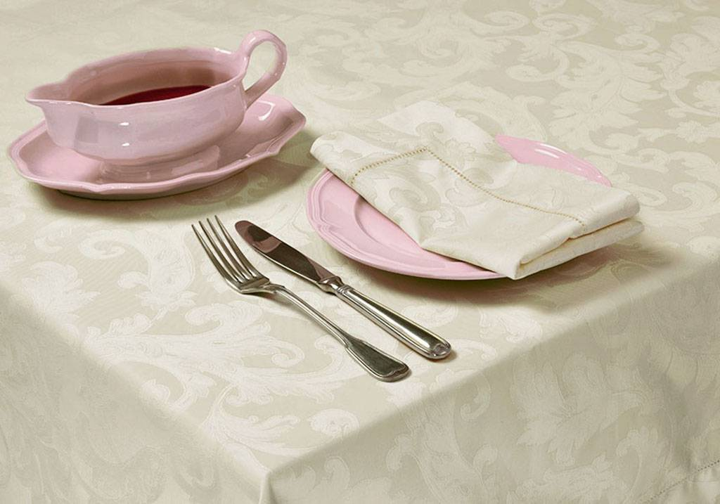 Made to Measure Cotton Damask Tablecloths