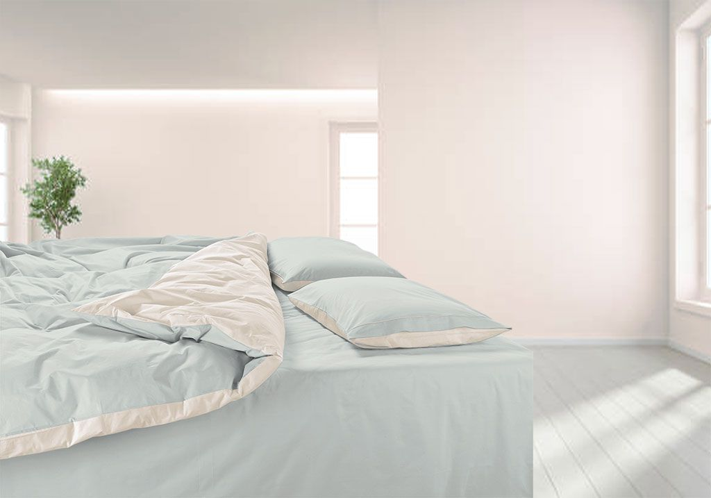 Percale made to measure duvet cover 500TC; Cotton percale bespoke duvet cover 500TC