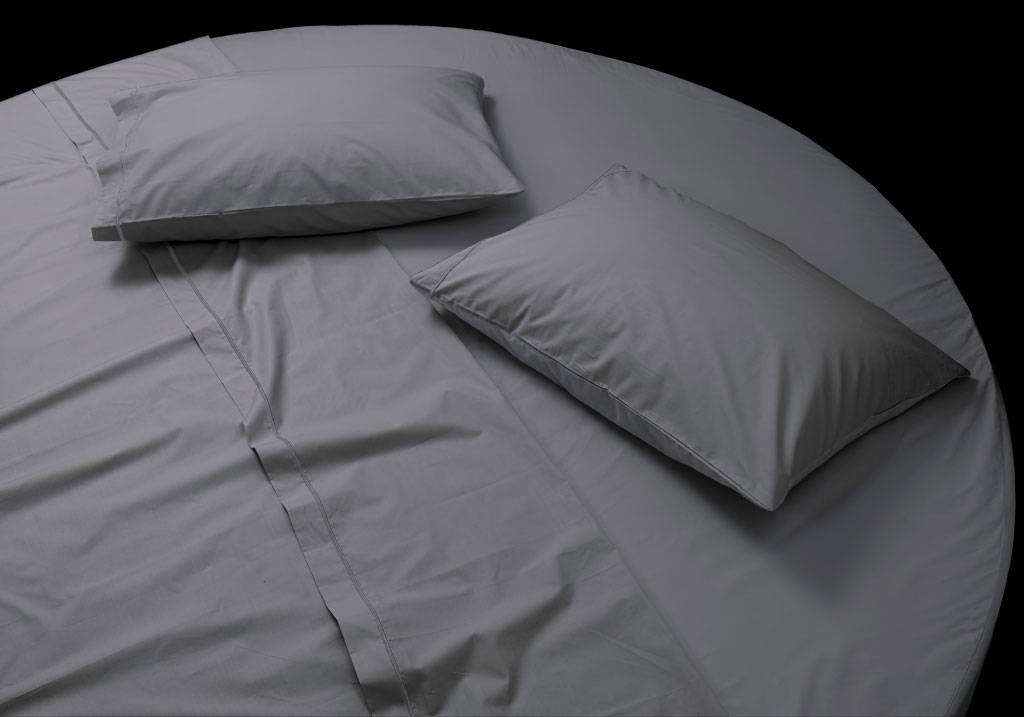 Made to measure round bed cotton sateen fitted sheet