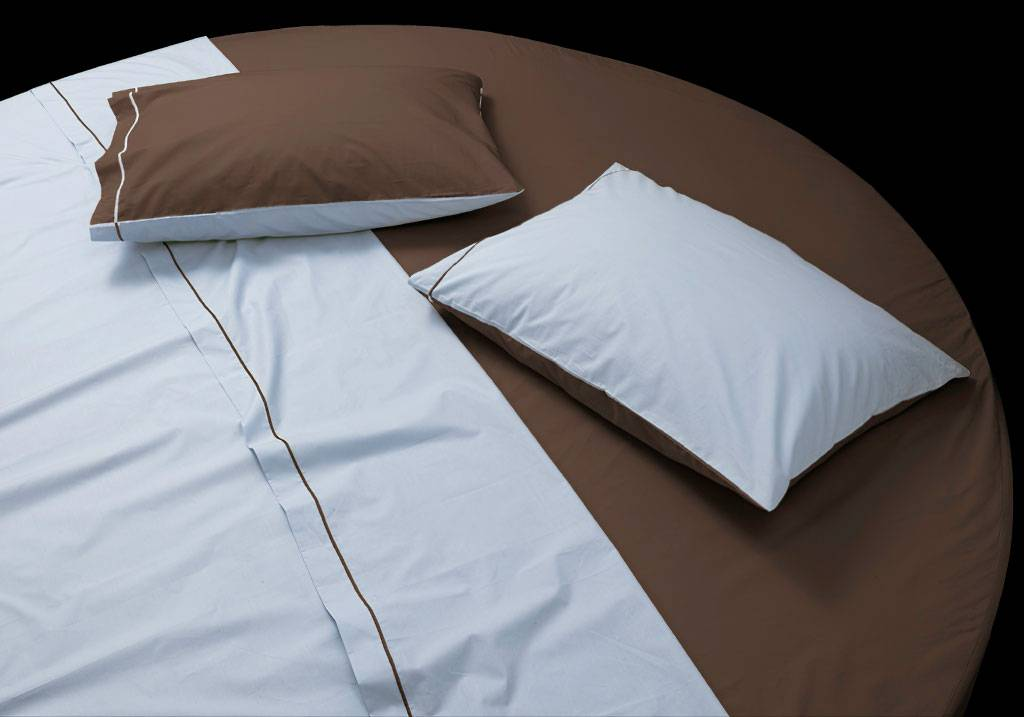 Custom size round bed cotton sateen sheet set